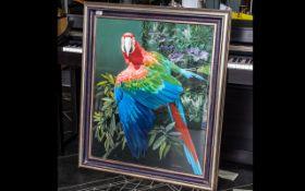 David Johnston (B.1946), British. Green Winged Macaw, Signed lower right David Johnston.