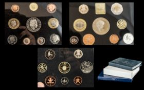 Collection of Royal Mint Proof Box Sets comprising 1994, 1999 and 2001 Deluxe Proof Sets,