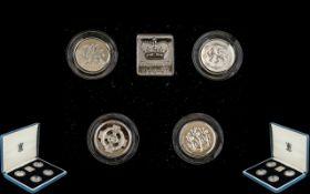 Royal Mint Proof Set 1994 - 1997, solid silver set,