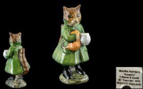 Beswick Beatrix Potter Figure ' Simpkin ' Green Coat. BP3B. Modeller Alan Maslankowski.