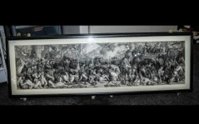 A Pair of Large Rectangular Prints depicting the death of Nelson and Wellington.