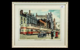 Tram Interest: Original Deryk Bailey Watercolour, wonderful quality artwork by Deryk Bailey,