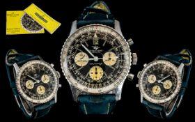 Breitling - Navitimer 806 ' Pilot's ' Chronograph Stainless Steel Wrist Watch. c.1960's.