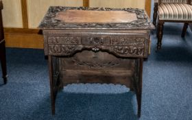 Antique Chinese Desk, a 19th century Chinese campaign desk with fold away legs,