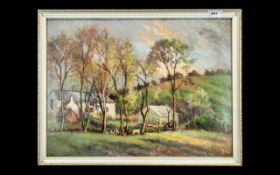 Oil Painting on Board by Norman Donnelly, of Stannah House, Thornton. Framed.