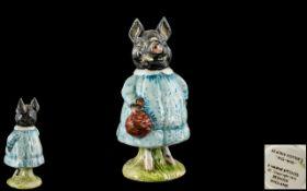 Beswick - Early Beatrix Potter Figure ' Pig-Wig ' Black Pig. BP3A. Modeller Albert Hallam.