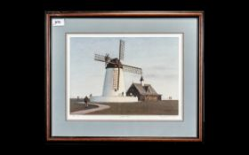 St Annes Interest - Limited Edition Signed Print of Lytham Windmill by Raymond K Boyes, No. 128/850.