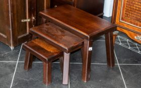 Contemporary Nest of Tables, of substantial,