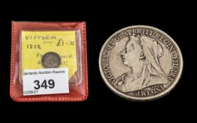 An 1898 Silver Crown, together with an 1834 Silver 4d.