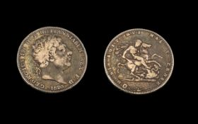 George III Silver Crown, dated 1820. Fine condition.
