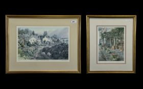 Pair of Pencil Signed Judy Boyes Limited Edition Prints, one titled 'Troutbeck, a Lakeland Village',