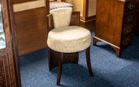 Art Deco 1930s Bedroom Chair, a walnut chair of sleek Art Deco design,