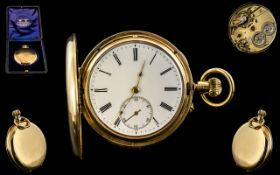 LeCoultre 18ct Gold Full Hunter Minute Repeater Pocket Watch of Large Proportions ( Heavy ) Full
