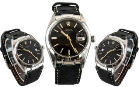 Rolex Oysterdate - Gents Hand Wound Steel Cased Precision Bubble Back Wrist Watch ref 6694 ' All