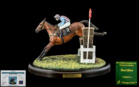 Country Artist Ltd Edition Jockey and Horse Figure ' Best Mate ' Sculpture Rachel Hartley,