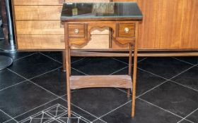 Edwardian Table of Small Proportions with two drawers.