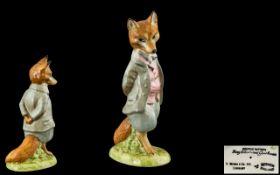 Beswick Beatrix Potter Figure ' Foxy Whiskered Gentleman ' Gold Stamp BP1A.