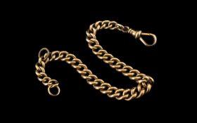 Victorian Period 9ct Gold Good Quality Albert Bracelet,