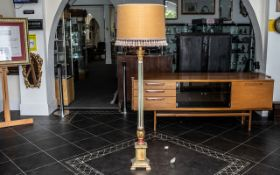 Carved Wood and Gesso Decorated Italian Standard Lamp of Typical Form,