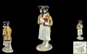 Beswick Beatrix Potter Figure ' Pickles ' Black Face Dog - BP2A, Beswick No 2334.