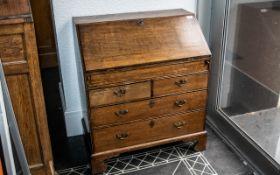 Small Sized Reproduction Oak Georgian Style Bureau,