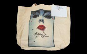 Elizabeth Taylor Calico Shopper together with an Elizabeth Taylor compliment slip.