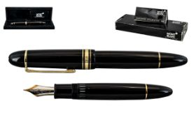 Mont Blanc 4810 Fountain Pen with 14ct Gold Nib, Marked 585.