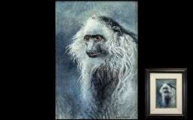 David Johnston (B.1946), British. Spider Monkey, Signed lower right David Johnston.