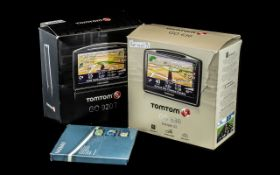 Two Boxed Sat Nav TomToms, TomTom Go 920T, and a Go 630 Europe 22, with software.