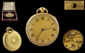 18ct Gold - Stunning Key-wind Lever Escapement - Quarter Repeater of Small Proportions,