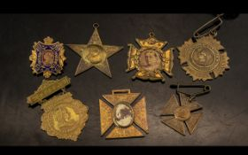 Various Victorian Medallions and Badges.