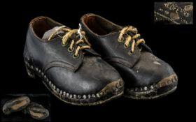 Pair Of Antique Child's Clogs,