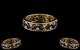 18ct Gold Sapphire & Diamond Eternity Ri