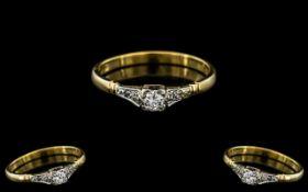 18ct Gold and Platinum Attractive Diamon