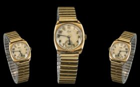 1920s 9ct Gold Leda Gents Watch, the cas