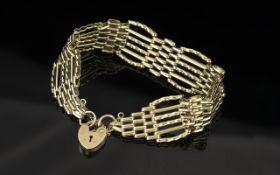 Ladies 9ct Gold - Fancy 6 Bar Gate Bar B