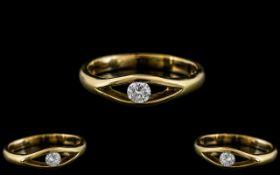 Contemporary Designed 18ct Gold Single S