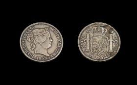 Isabela Porlag 20 Reales Trade Coin, dat