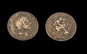 George III Silver Crown, dated 1820. Fi