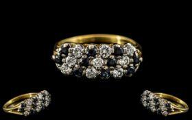 Ladies Attractive 18ct Gold - Diamond an