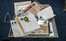 Stamp Interest - Box of Assorted Stamps,