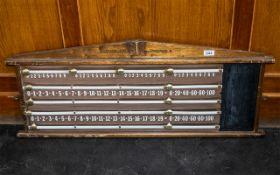 Vintage Club Snooker Oak Score Board, Ma