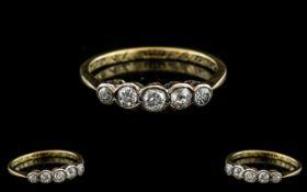 18ct Gold Attractive 5 Stone Diamond Set