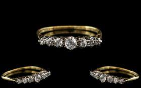 18ct Gold and Platinum Antique Period At