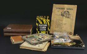 Box of Miscellaneous Books Stamps Etc. c