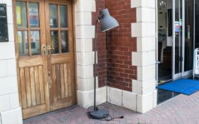 Grey Industrial Style Standard Lamp from