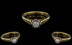 18ct Gold Attractive Single Stone Diamon
