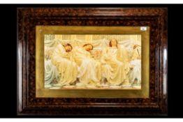 Large Classical Framed Print Depicting 3