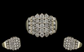 Diamond Cluster Ring Set With Round Mode