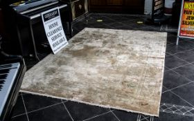 Large Chinese Silk Embossed Carpet with